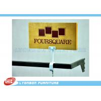 Cheap MDF Wooden CNC Engraving LOGO Display Brand For Retail Shop , UV Painting wholesale