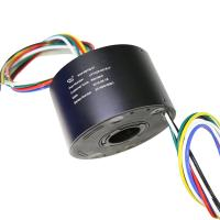 China 6 Circuit Hollow Slip Ring 15A Working Humidity 60% RH Below Precious Metal Contacts on sale