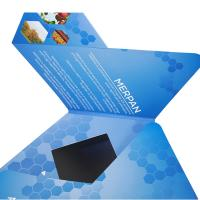 Cheap VIF Custom Hexagon LCD Video Brochure Custom Gift Video Greeting Cards 7'' Rechargeable Lithium Batteries wholesale