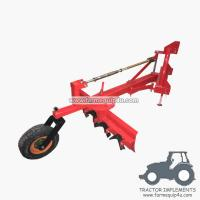 Cheap 4GBRW - tractor 3point hitch grader blade with rippers with rear support wheel 4Ft wholesale