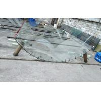 Cheap small radius curved glass, curved glass, curve radius minimum at 680 mm, max length 2330mm, cylindrical curve, buildling wholesale