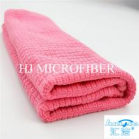 Microfiber Cleaning Cloth Towel Weft Knitted Cloth For Kitchen Red Color 16