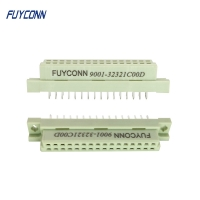 Cheap 8 16 32 Pin PCB Straight 2 Rows 2x16P 32pin Female DIN 41612 Connector wholesale
