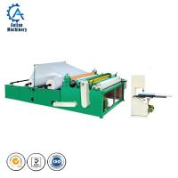 Cheap Automatic toilet paper rewinding embossing perforating machine for making toilet paper small roll wholesale