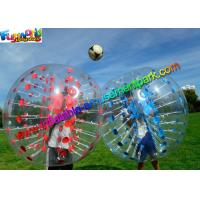 Cheap Colorful TPU Inflatable Bumper Ball , Zorb Bubble Soccer Ball For Humans wholesale