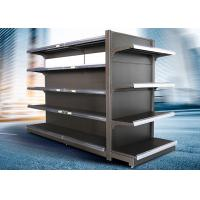 Cheap Brown and white color supermarket display equipment adjustable and fashionable gondola with OEM design wholesale
