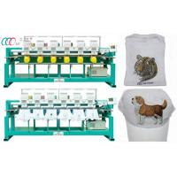 Cheap 6 Heads 9 Colors Cap / T-shirt Embroidery Machine , Servo Motor wholesale