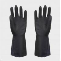 Quality heave duty latex black industrial rubber glove wholesale