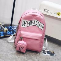 Cheap Schoolbag female han edition hits color street backpacks college wind schoolbag canvas backpack leisure computer bag wholesale