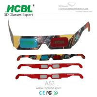Cheap Custom Paper Anaglyph 3D Glasses With Full Color Logo For 3D Theater wholesale