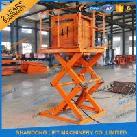 Cheap Small Electric Type Portable Hydraulic Fixed Mechanical Scissor Lift 1T - 30T Load Capacity wholesale
