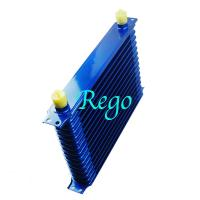 Cheap Stacked Plate Universal Transmission Oil Cooler Kit Heavy Duty Blue Color wholesale