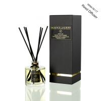 Cheap Luxury Transparent Round Bottle Home Reed Diffuser with Black Gift Box wholesale