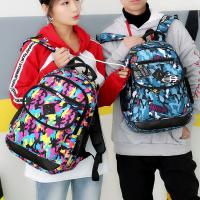 Cheap Nylon couple students zipper backpack casual polyester printed breathable wear-resistant soft handle backpack wholesale