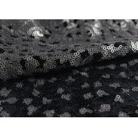Cheap Golden Black Sequin Lace Fabric With 3D Embroidery Fabric For Party Gown Dresses wholesale