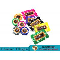 Cheap Entertainment 12g 760pcs Custom Poker Chip Sets With Anti - Off Film Protection wholesale