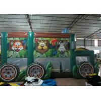 Cheap Durable Funny Custom Made Inflatables Bus Obstacle Course Jump House 5 X 8 X 5m wholesale