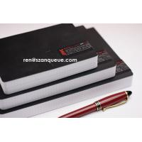 China Custom Printed Leather Square Lined Paper Writing Notebook on sale