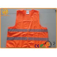 Buy cheap Hi Visibility Security Reflective Safety Vests for Construction Worker / Police from wholesalers