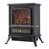 Cheap Living Room / Office Floor Standing European Electric Fireplace 1500W ROHS / EMC wholesale