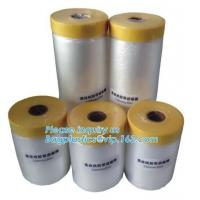 Cheap Disposable Plastic Car Seat Covers Self Static Cling Masking Film PE Protection Film With Tape wholesale