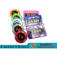 Cheap 730pcs Crystal Screen Style Numbered Poker Chip Set With Aluminum Case wholesale
