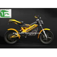Cheap EEC Yellow Folding bicycles 20AH 48V  Li-ion Folding bicycles Electric Moped Scooter wholesale