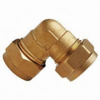 Cheap Brass Compression Fitting with 10 Years Warranty, Available in Elbow Shape wholesale