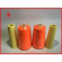 Super Bright Spun Polyester Sewing Thread , Polyester Yizheng Staple Fiber Yarn