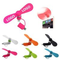 Cheap Mini Cellphone Fan,2 In 1 USB Micro Phone Fan for Apple & Android Phone,TOM104781 wholesale