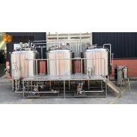 Buy cheap Semi Automatic Control 500L Microbrewery brewing equipment Steam Heating from wholesalers