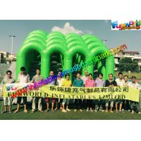 Buy cheap Fire Retardant PVC Inflatables Obstacle Course 5K Climbing Jumping Castle from wholesalers
