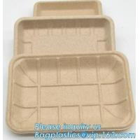 Cheap Dishes Plates Eco Friendly Dinnerware Blister Packaging Resturant Serving Tray wholesale