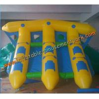 Cheap Yellow Inflatable Boat Toys , Inflatable Flyfish Boat Towable 4m x 4m wholesale