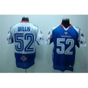 Cheap 2010 nfl pro bowl 49ers #52 willis blue NFL  Jersey wholesale
