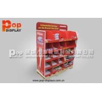 Cheap ToothBrush / ToothPaste Cardboard Pallet Display Case With Utility Red 4C Print wholesale