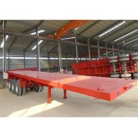 Buy cheap 40ft Container Transport Semi Flatbed/Skeleton Container Trailer With Container from wholesalers