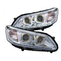 Cheap ABS Brightest LED Car Headlights For 13 - 14 Honda Accord 4dr Sedan wholesale