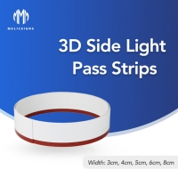 Cheap 8cm Width ABS 3D Side Led Strip PVC Billboard Letter Indoor No Edge Signs wholesale