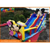 Cheap Pvc Mickey Mouse Commercial Inflatable Bounce House With Slide Easy To Carry wholesale