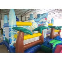 Cheap Giant Inflatable dolphin New Ocean undersea world Fun city Inflatable ocean playground park wholesale