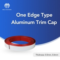 Cheap 10.8cm Aluminum Trim Cap For Channel Letter One Edge Type With Protect Film wholesale