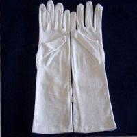 Cheap Long White Cotton Gloves with 5017 Style, Measures 14-inch, Made of 100% Cotton wholesale