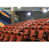 Cheap Large Mobile 4D Movie Theater Equipment  , Motion Chairs With Comfortable Headrest And Cup Saucer wholesale