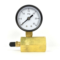 Buy cheap 50mm 0~200psi 0~14bar Pool Filter Water Pressure Dial Hydraulic Pressure Gauge from wholesalers