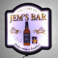 Cheap Welcome to Bar Sign Whisky Night Club Illuminated LED Pub Neon Sign Display wholesale
