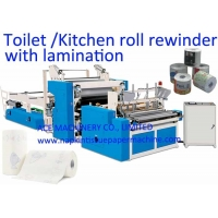 China Steel To Rubber Embossing 1300mm Toilet Paper Making Machine on sale