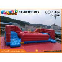 Cheap Commercial 0.55 MM PVC Tarpaulin Inflatable Obstacle Course With Slide wholesale
