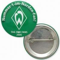 Cheap 50mm Button Badges, Made of Tin, Customized Logos and Designs are Welcome wholesale