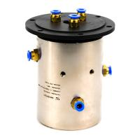 Slip Ring of 3 Channels Rotary Union Joint Routing Oxygen & Acetylene for